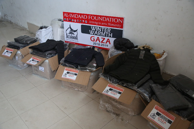 Warm winter clothes are also distributed to help add the badly needed extra layer