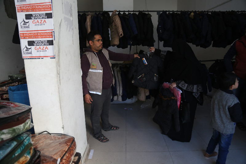 Arranging the clothing and items so beneficiaries can choose allows them a greater degree of flexibility