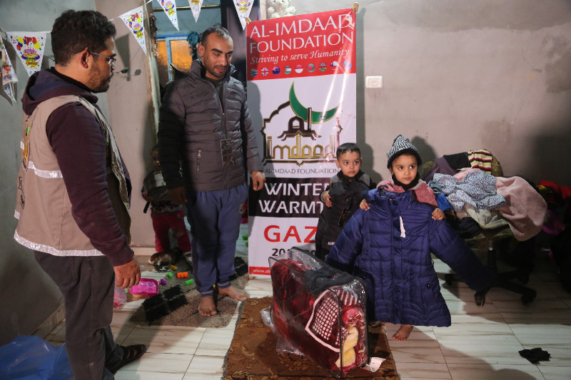 These distributions are an annual part of the Al-Imdaad Foundation's calendar and allow donors to help ensure Gaza's residents are not forgotten in winter