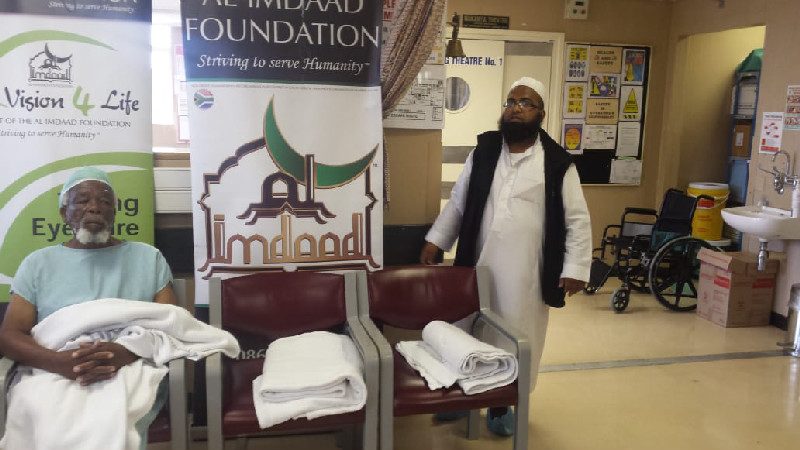 Al-Imdaad Foundation's Vision-4-Life eye care programme has been supporting cataract programmes since 2014 and also runs a eye-clinic in Sherwood, Durban