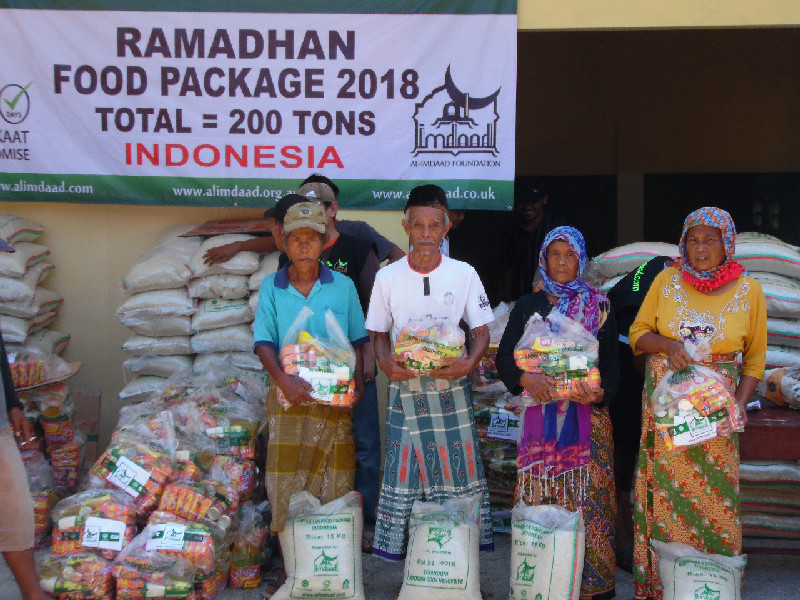 Al-Imdaad Foundation's Indonesia office will be distributing a total of 200 tons of food aid this Ramadan