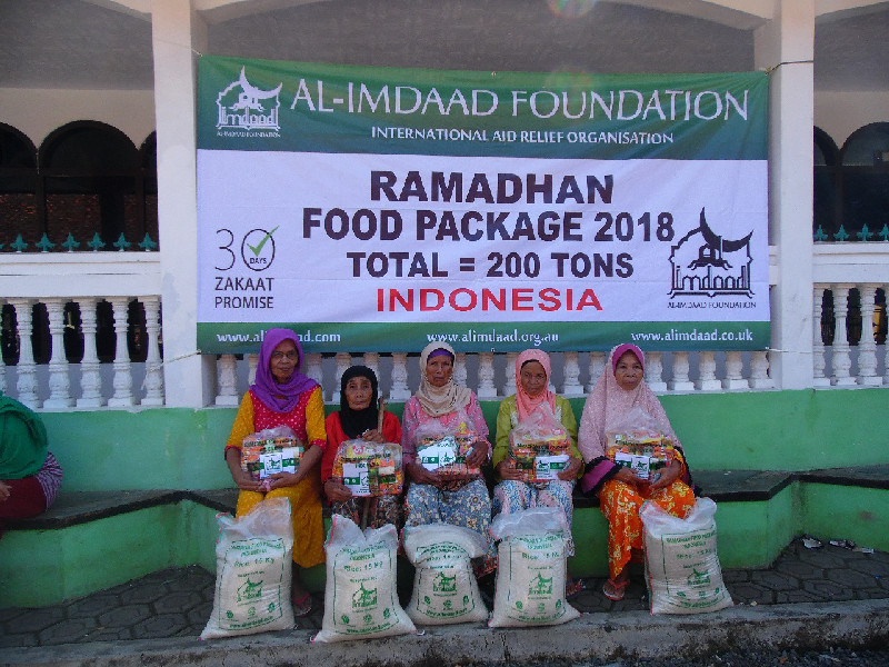 In Indonesia our office is able to deliver food hampers to vulnerable groups such as the infirm and elderly