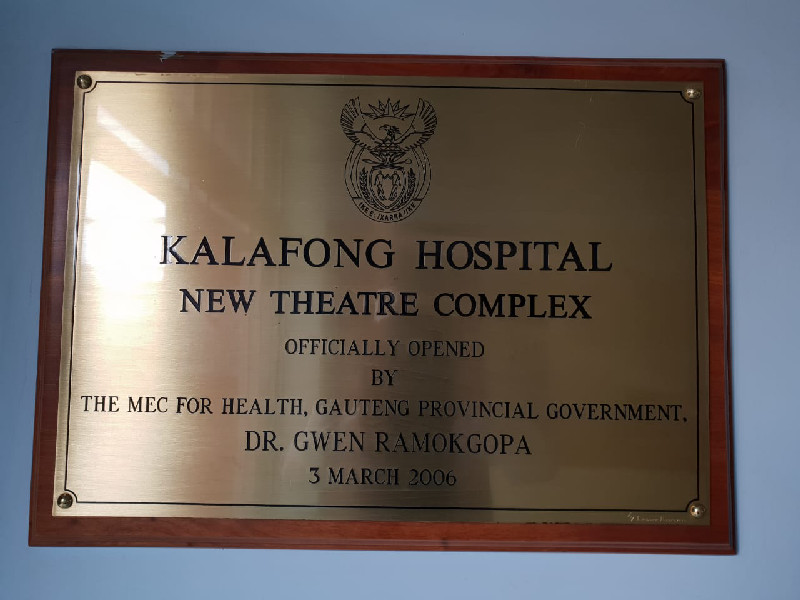 A similar programme also took place at the Kalofong Hospital in Atteridgeville, Pretoria over the weekend of the 13th and 14th of October 2018